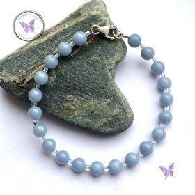 Angelite & Crystal Quartz Healing Bracelet